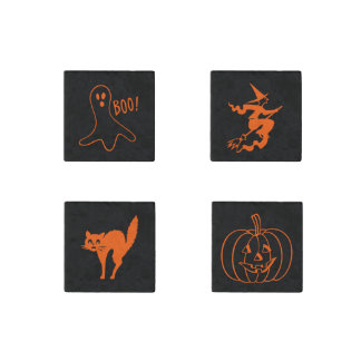 Halloween Marble Magnet Set Cute Fun Scary Spooky