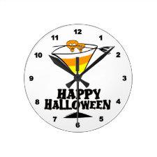 Halloween Martini Clocks