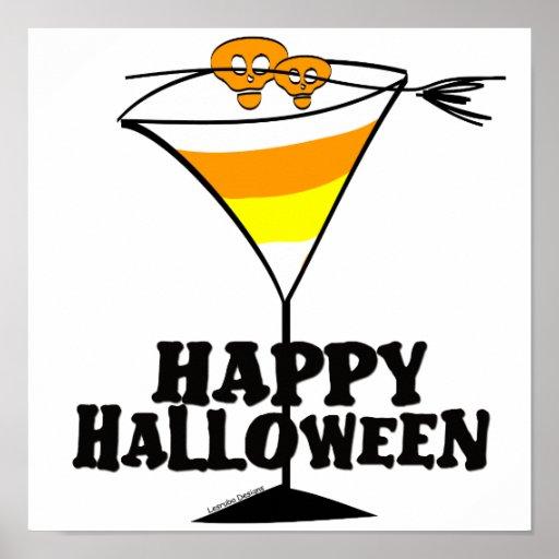Halloween Martini Poster