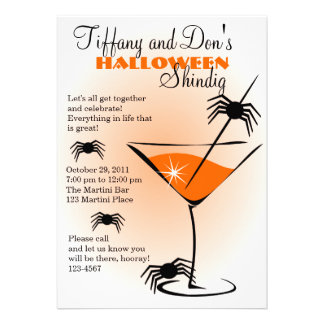 Halloween Martini Shindig! Personalized Invite