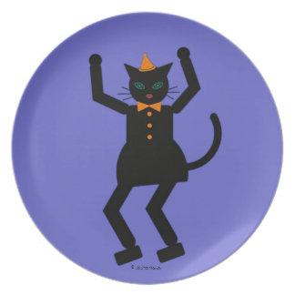 Halloween Martzkin Black Cat Girl Plate