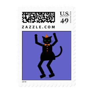 Halloween Martzkin Black Cat Girl Postage