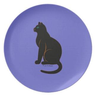 Halloween Martzkin Black Cat Plate