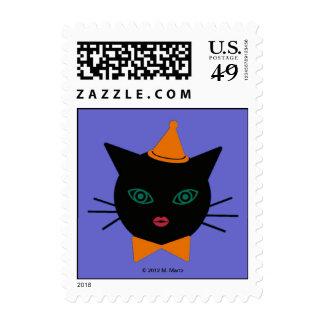 Halloween Martzkin Black Cat Postage