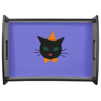 Halloween Martzkin Black Cat Serving Tray