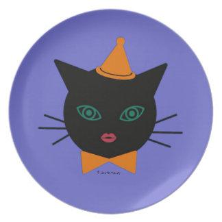 Halloween Martzkin Black Cat Treat Plate