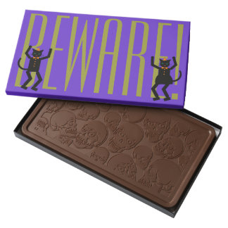 Halloween Martzkin Black Cats Chocolate Box 2 Pound Milk Chocolate Bar Box