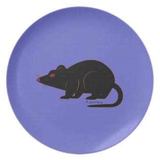 Halloween Martzkin Black Rat Plate