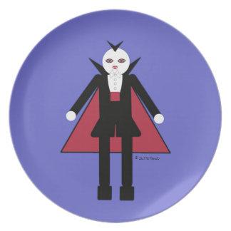 Halloween Martzkin Boy Vampire Treat Plate