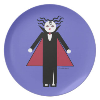 Halloween Martzkin Girl Vampire Treat Plate