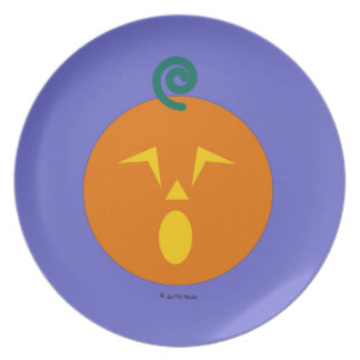 Halloween Martzkin Jack-O-Lantern Treat Plate