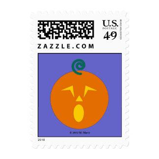 Halloween Martzkin Pumpkin Postage © 2012 M. Martz