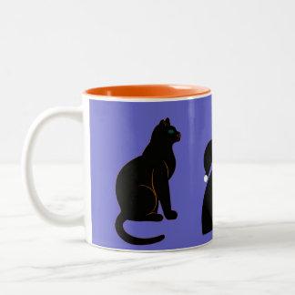 Halloween Martzkin Witch & Black Cat Mug