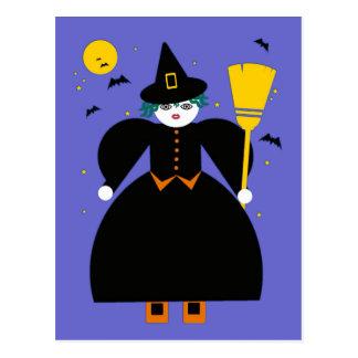 Halloween Martzkin Witch Postcard © 2012 M. Martz