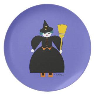 Halloween Martzkin Witch Treat Plate