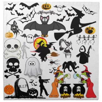 Halloween Mashup Cloth Napkin