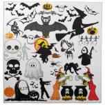Halloween Mashup Printed Napkins