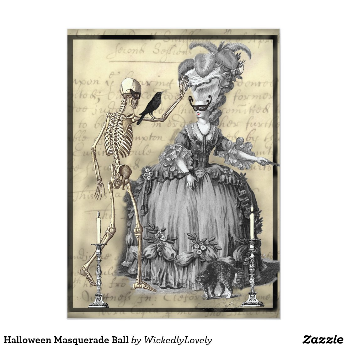 Halloween Masquerade Ball Card