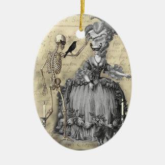Halloween Masquerade Ball Ceramic Ornament