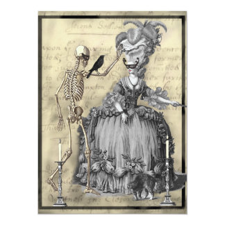 Halloween Masquerade Ball 5.5x7.5 Paper Invitation Card