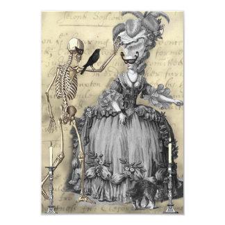 "Halloween Masquerade Ball RSVP 3.5"" X 5"" Invitation Card"