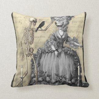 Halloween Masquerade Ball Throw Pillow
