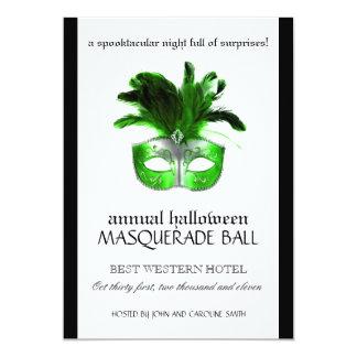 """Halloween Masquerade Invitation 5"""" X 7"""" Invitation Card"""