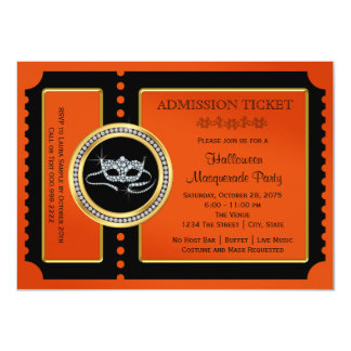 Halloween Masquerade Party 4.5x6.25 Paper Invitation Card