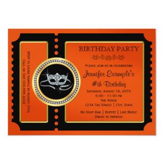 Halloween Masquerade Party Card
