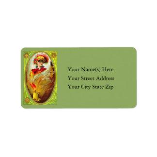 Halloween Masquerade Vintage Address Label