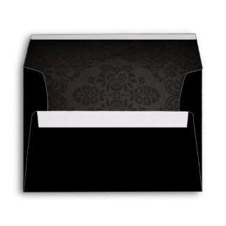 Halloween Matching Black Wedding Envelopes