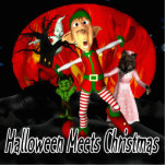 Halloween meets Christmas Photo Cut Out