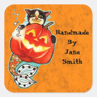 Halloween Mercat Square Sticker