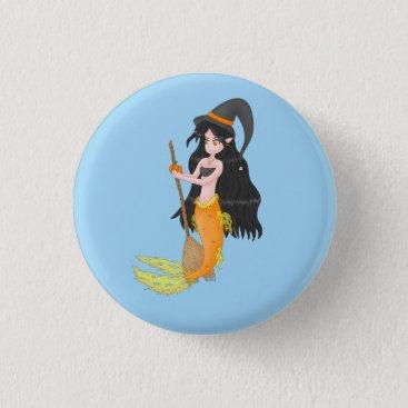 Halloween Themed Halloween Mermaid button 2