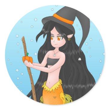 Halloween Themed Halloween Mermaid stickers