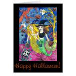 Halloween Mermaids Greeting Card