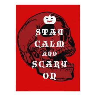"Halloween message ""Keep Calm and Scary On"", Origin 6.5"" X 8.75"" Invitation Card"