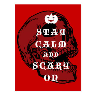 "Halloween message ""Keep Calm and Scary On"", Postcard"