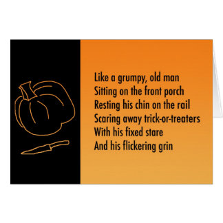 Halloween Metaphor Poem Card - Jack-o-lantern