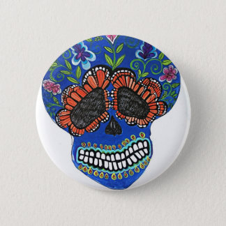 Halloween mexican style pinback button