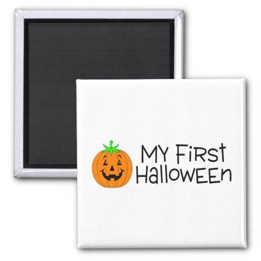Halloween mi primer Halloween (calabaza) Imanes Para Frigoríficos