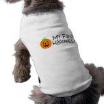 Halloween mi primer Halloween (calabaza) Camiseta De Perro