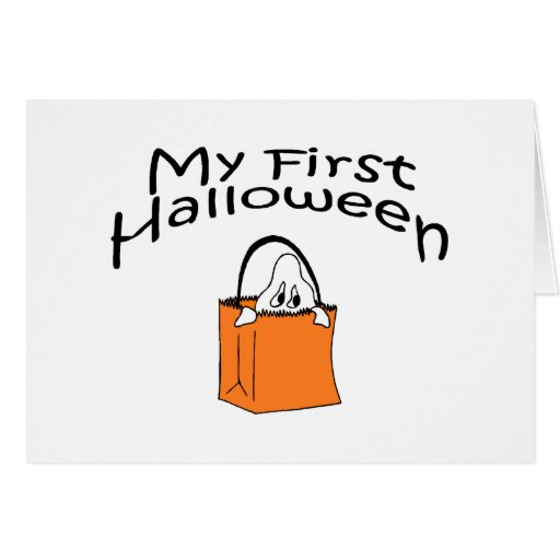 Halloween mi primer Halloween (fantasma) Tarjeton