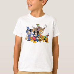 Kids' Hanes TAGLESS® T-Shirt with Mickey & Friends Trick-or-Treat for Halloween design