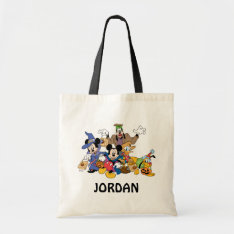 Halloween Mickey & Friends Tote Bag at Zazzle