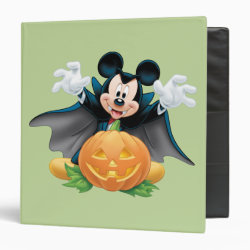 Avery Signature 1' Binder with Vampire Mickey Mouse with Halloween Pumpkin design