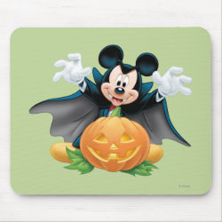 Mousepad with Vampire Mickey Mouse with Halloween Pumpkin design