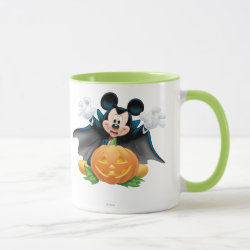 Combo Mug with Vampire Mickey Mouse with Halloween Pumpkin design