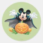 Halloween Mickey Mouse 1 Pegatinas Redondas