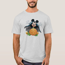 Vampire Mickey Mouse with Halloween Pumpkin Men's Basic T-Shirt